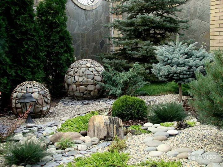 Фото ландшафтный дизайн с камнями и